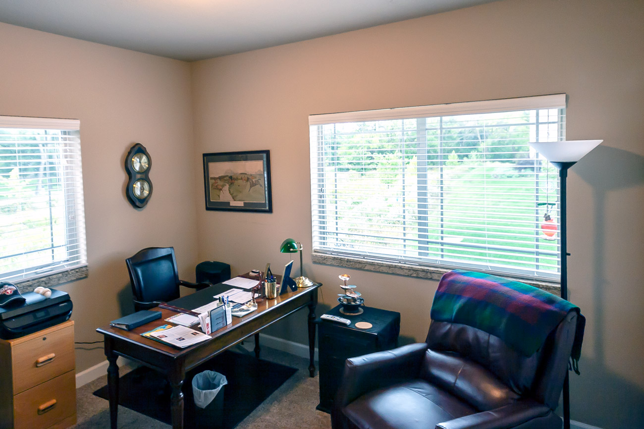 Suncrest room used as an office